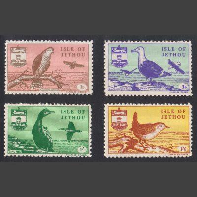 Jethou 1961 Birds Definitives Part Set (4v, 1d to 1s6d, U/M)