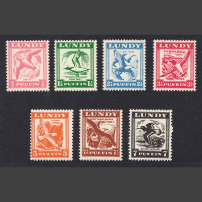 Lundy 1951 Birds on the Wing (7v, 1p to 9p, U/M)