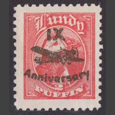 Lundy 1943 ½p IX Anniversary of Airmail Overprint (M/M)