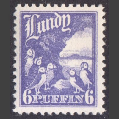 Lundy 1930 6p High Value Definitive (U/M)