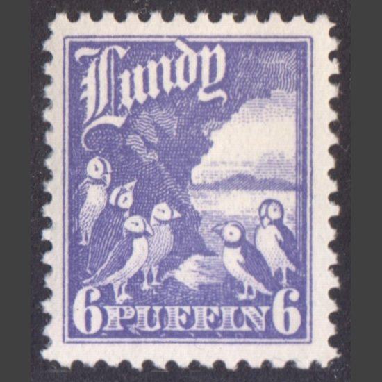 Lundy 1930 6p High Value Definitive (U/M)