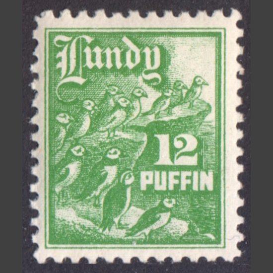 Lundy 1930 12p High Value Definitive (U/M)