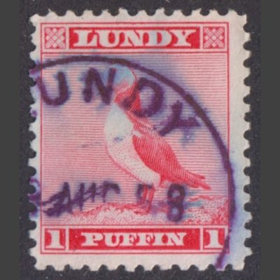 Lundy 1957 1p Standing Puffin Definitive (Used)