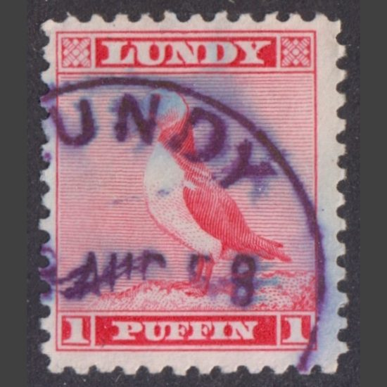 Lundy 1957 2p Standing Puffin Definitive (Used)
