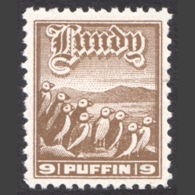 Lundy 1930 9p High Value Definitive (U/M)