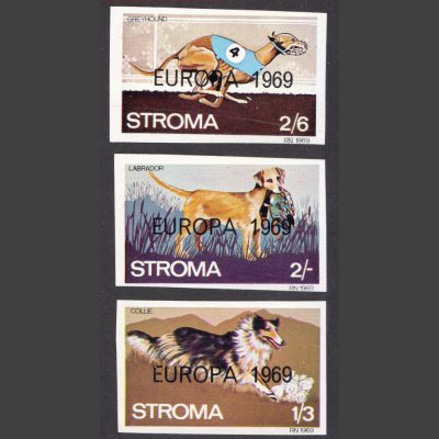 Stroma 1969 Europa Imperforate Part Set (3v, 1s3d to 2s6d, U/M)
