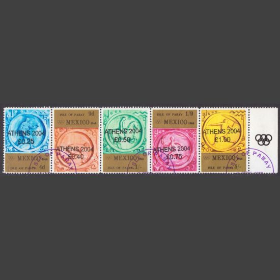 """Pabay 2004 """"Athens 2004"""" Unofficial Overprint on Mexico 1968 Olympics Set (CTO)"""