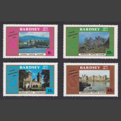 Bardsey 1980 Castles / London 1980 Set (4v, 8p to 45p, U/M)