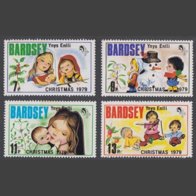 Bardsey 1979 Christmas Set (4v, 7p to 13p, U/M)