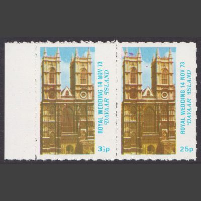 Davaar Island 1973 Royal Wedding (2v, 3½p and 25p, U/M)