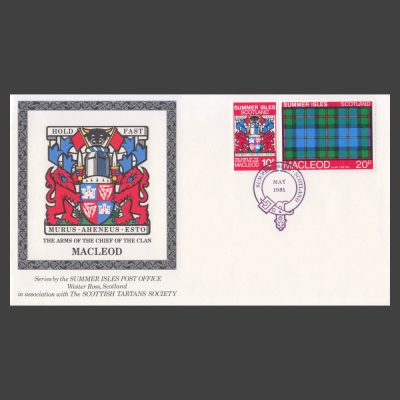 Summer Isles 1981 Clan Tartan Commemorative Cover with 10p and 20p MacLeod Stamps