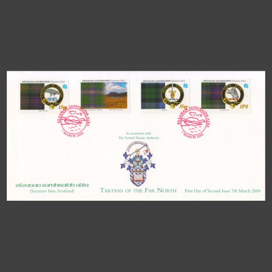 Summer Isles 2008 Tartans of the Far North (Second Issue) First Day Cover (FDC 4v, 15sg to 1PS)