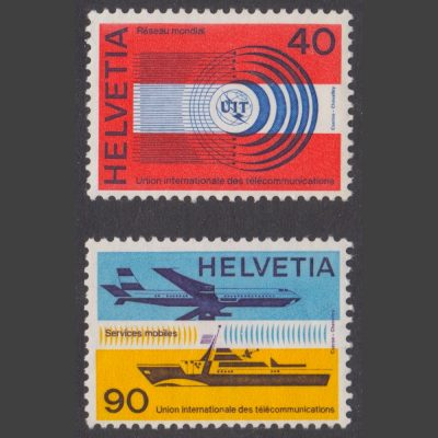 Switzerland 1976 World Telecommunications Network Part Set (SG LT11-12, U/M)