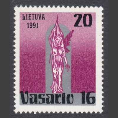 Lithuania 1991 National Day - Liberty Statue (SG 480, U/M)