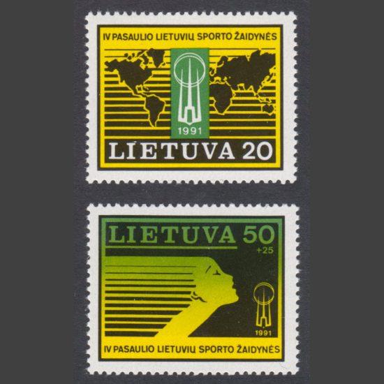 Lithuania 1991 Fourth International Lithuanians' Games (SG 491-92, U/M)