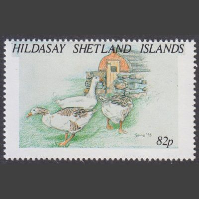 Hildasay 1995 Geese (82p - single value, U/M)