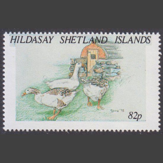Hildasay 1995 Geese (82p - single value, U/M)