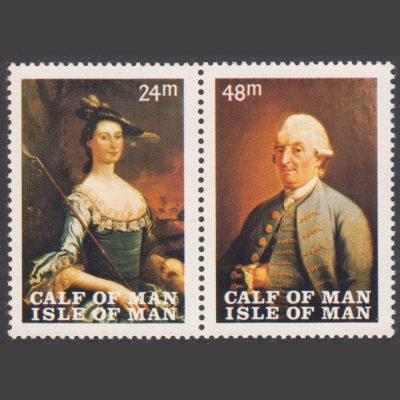 Calf of Man 1968 Manx Museum Paintings First Issue (2v, 24m and 48m, U/M)