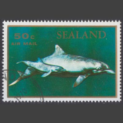 Sealand 1970 Dolphins (50c – single value, CTO)