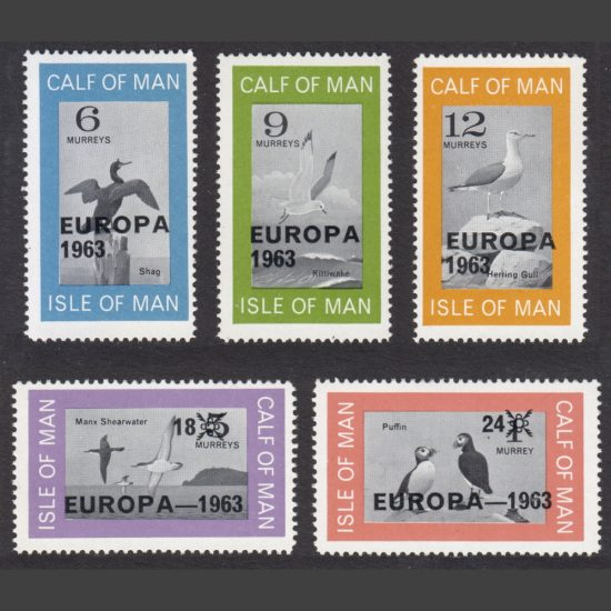 Calf of Man 1963 Europa Part Set (5v, 6m to 24m, U/M)