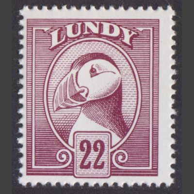 Lundy 1982 Definitives (22p - single value, U/M)