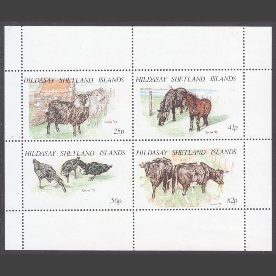 Hildasay 1995 Animals and Birds of the Shetlands (4v, 25p to 82p, U/M)