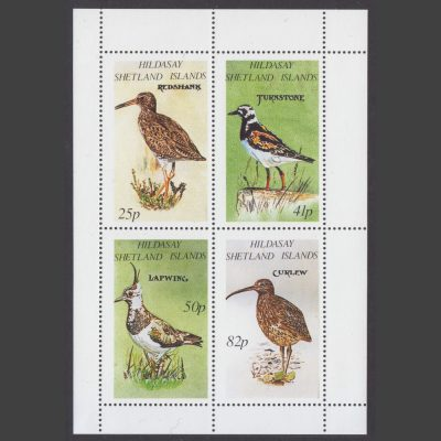 Hildasay 1995 Birds of the Shetlands (4v, 25p to 82p, U/M)