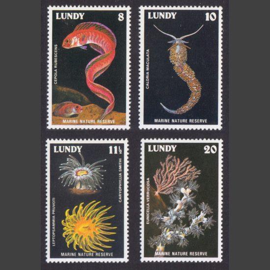 Lundy 1978 Lundy Marine Nature Reserve (4v, 8p to 20p, U/M)