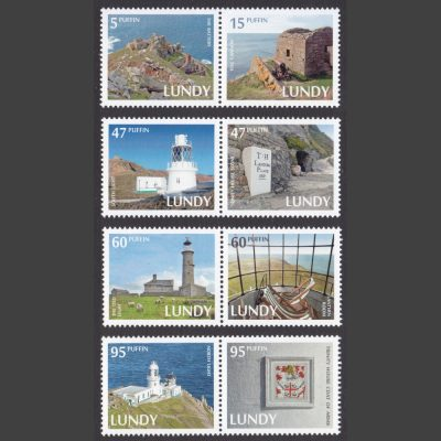 Lundy 2014 Trinity House 500 Years (8v, 5p to 95p, U/M)