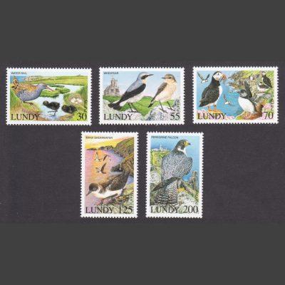 Lundy 2017 Lundy Island Birdlife (5v, 30p to 200p, U/M)