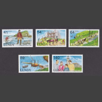Lundy 2012 Historic Lundy (5v, 41p to 140p, U/M)
