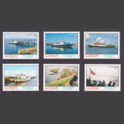 Lundy 2008 50th Anniversary of the Launching of MS Oldenburg (6v, 10p to 65p, U/M)