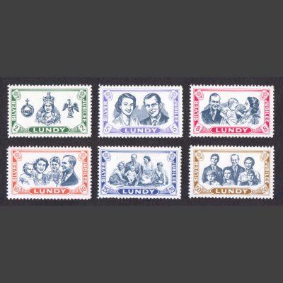 Lundy 1977 Royal Silver Jubilee (6v, 2p to 50p, U/M)