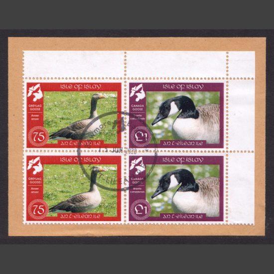 Islay 2019 Islay Geese 2 x 75p and 2 x £1 Used on Piece