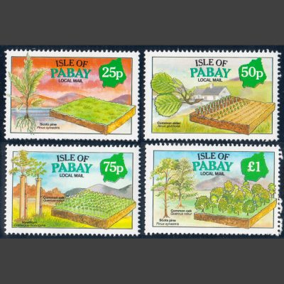 Pabay 1993 Year of the Tree (4v, 25p to £1, U/M)