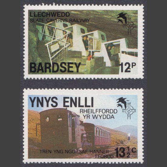 Bardsey 1981 Trains Part Set (2v, 12p and 13½c, U/M)