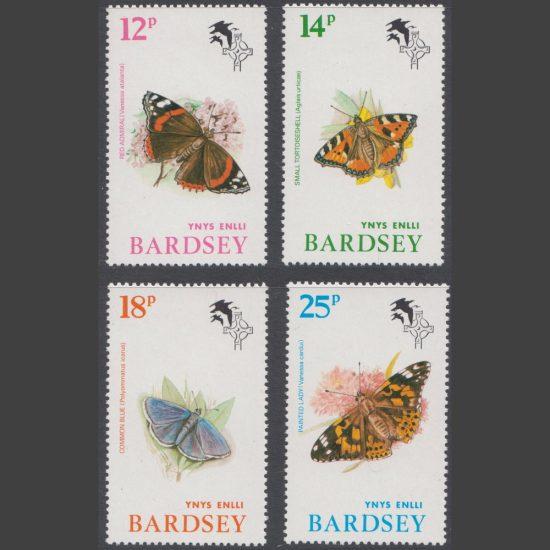 Bardsey 1981 Butterflies Set (4v, 12p to 25p, U/M)