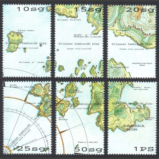 Summer Isles 1996 Map of the Islands (6v, 10sg to 1PS, U/M)
