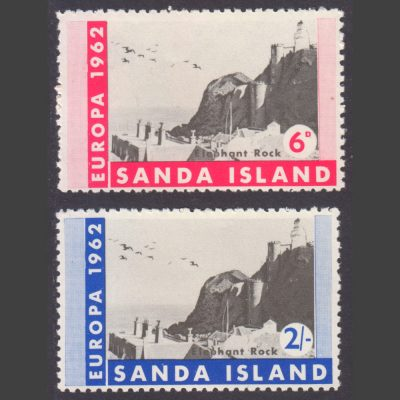 Sanda Island 1962 Europa Perforate (2v, 6d and 2s, U/M)