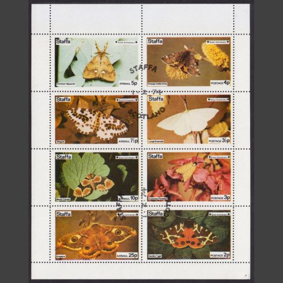 Staffa 1974 Moths (8v, 2p to 25p, CTO)