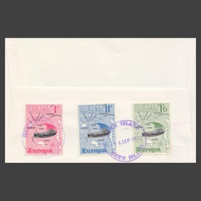 Herm Island 1963 Europa Set on First Day Cover (FDC)