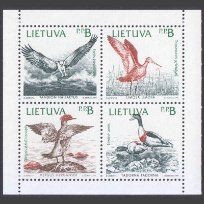 Lithuania 1992 Birds of the Baltic (SG 506-9, U/M)