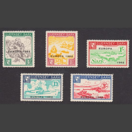 Guernsey-Sark Commodore Shipping 1962 Europa (5v, 4d to 3s, U/M)