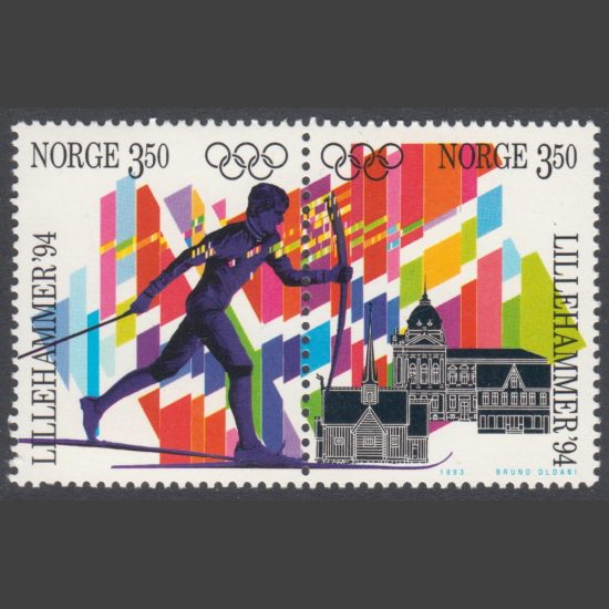 Norway 1993 Winter Olympic Games, Lillehammer (7th issue) (SG 1169-70, U/M)