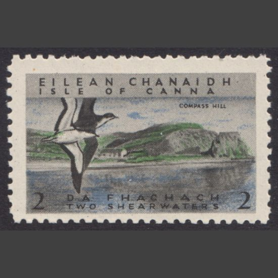 Canna 1958 Compass Hill and Manx Shearwaters (2s, U/M)