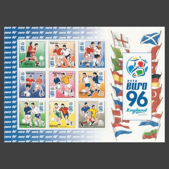 Gairsay 1996 Euro 96 Sheetlet (60p x9, U/M)