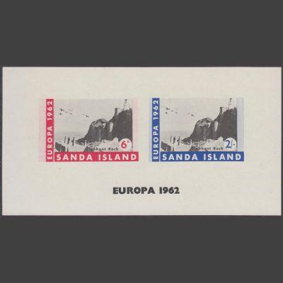 Sanda Island 1962 Europa Imperforate Sheetlet (2v, 6d and 2s, U/M)