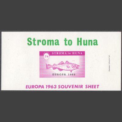 Stroma 1963 Europa Souvenir Sheet (2s6d, U/M)