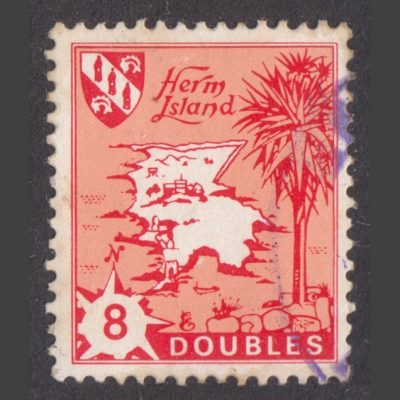 Herm Island 1968 8db Map Definitive Reissue (Used)