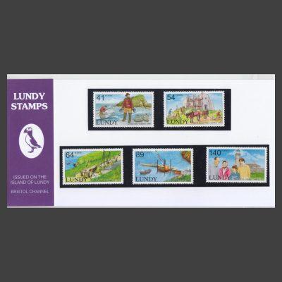 Lundy 2012 Historic Lundy Presentation Pack (5v, 41p to 140p, U/M)